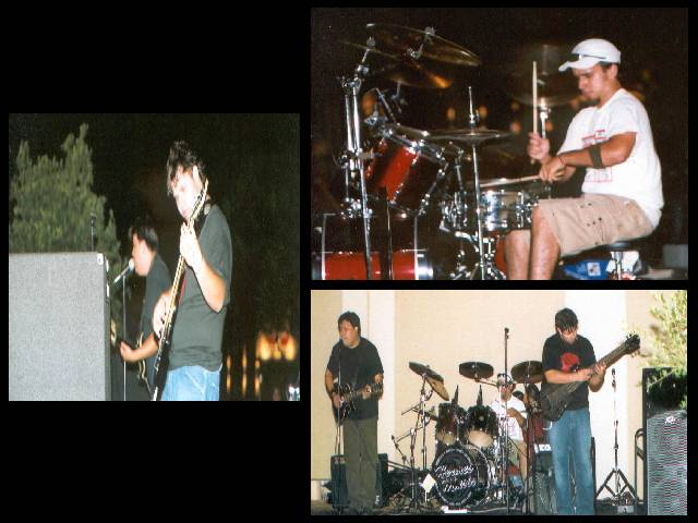 Deveat playing under the Laredo night sky